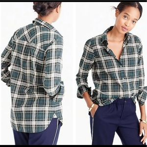 J. CREW Boy Shirt in Crinkle Plaid